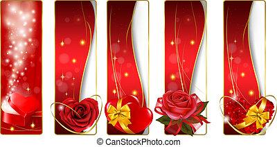 verzameling, kleurrijke, valentijn