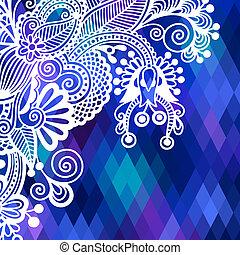 vierkante kleur, model, samenstelling, bloem, achtergrond, ethnische , geometrisch ontwerp