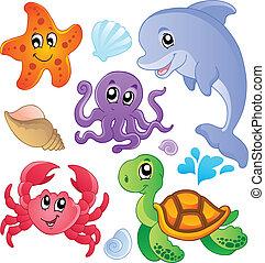vissen, 3, dieren, zee, verzameling