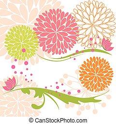 vlinder, abstract, bloem, lente, kleurrijke