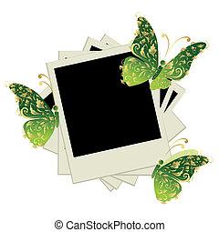 vlinder, tussenvoegsel, afbeeldingen, foto's, versiering, lijstjes, stapel, jouw