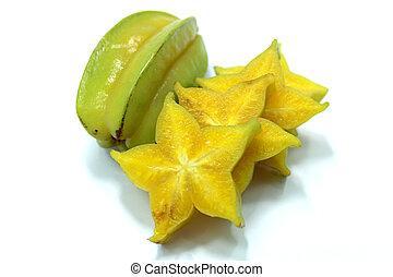 voedingsmiddelen, fruit, ster, appel