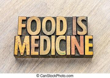voedingsmiddelen, tekst, hout, type, geneeskunde