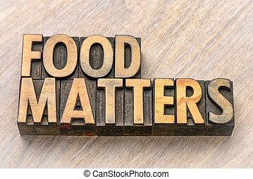 voedingsmiddelen, van belang zijn, hout, type