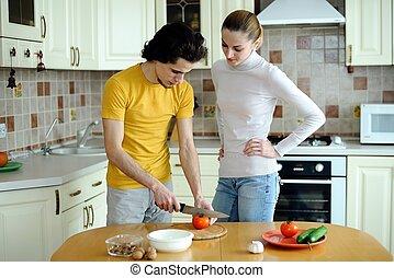 voedingsmiddelen, vegetariër, het bereiden
