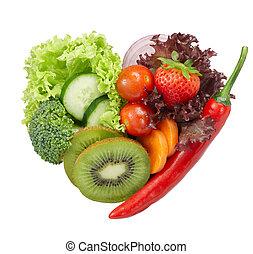voedingsmiddelen, vegetariër, liefde