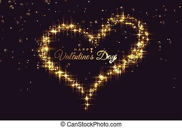 vonkeelt, hart, gemaakt, achtergrond, dag, valentines, creatief
