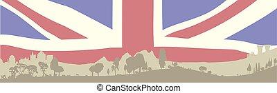 voorgrond, brits, bosrijk
