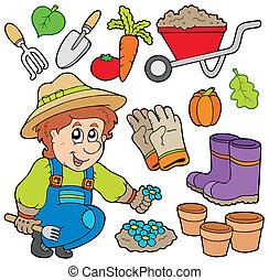 voorwerpen, gevarieerd, tuinman