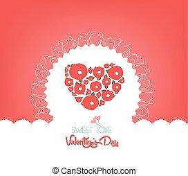 vrolijke , bloem, dag, valentijn