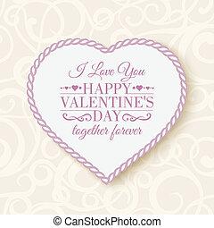 vrolijke , -, card., dag, valentine