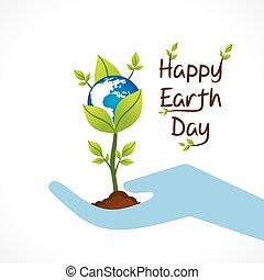 vrolijke , dag, aarde, ontwerp