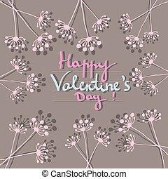 vrolijke , dag, kaart, valentine