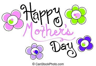 vrolijke , dag, moeders