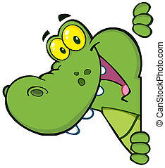 vrolijke , krokodil