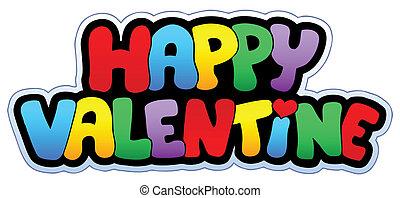 vrolijke , meldingsbord, spotprent, valentijn