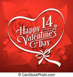 vrolijke , vector, illustratie, valentijn