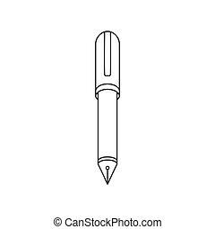 vulpen, vector, pictogram