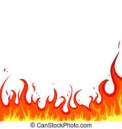 vuur, -, vlammen