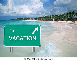water, tropische vakantie, meldingsbord
