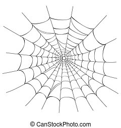 web, vector, spin, witte