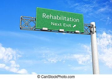 wegteken, rehabilitatie, -