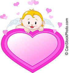 weinig; niet zo(veel), valentijn, engel, hart