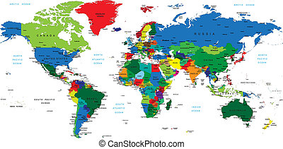 wereld, map-countries