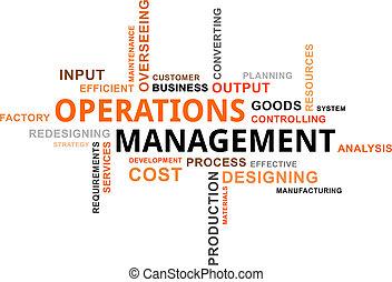 werkingen, woord, management, -, wolk