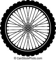wiel, black , fiets, silhouette, vector