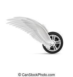 wiel, vliegen