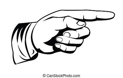 wijzende hand
