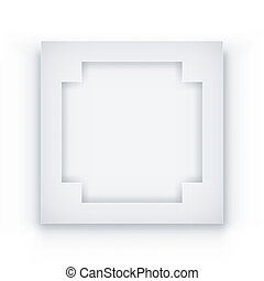 witte , frame, achtergrond