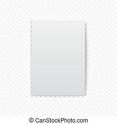 witte , papier, schaduw