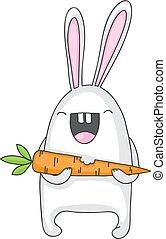 wortel, konijntje
