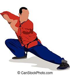 wushu., p, fu., sportsman, kung