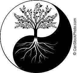 yang, boompje, yin