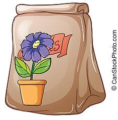 zaden, bloem, troep