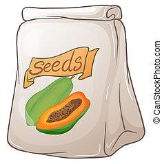 zaden, papaja, troep