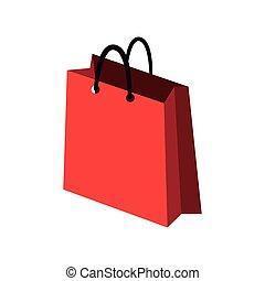 zak, witte , shoppen , achtergrond