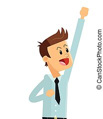 zakenman, vrolijke , pictogram