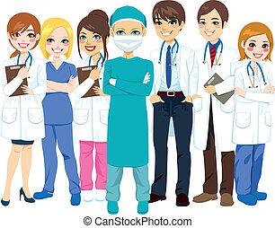 ziekenhuis, medisch team