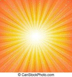 zonnestraal, achtergrond, sterretjes