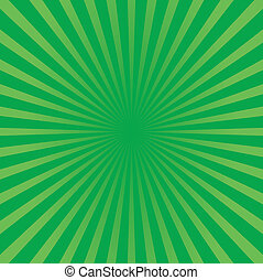 zonnestraal, stijl, groene achtergrond