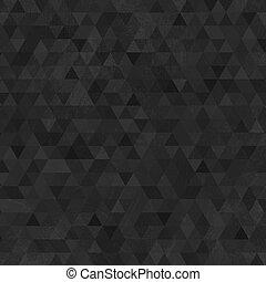 zwarte achtergrond, abstract, grunge, driehoeken