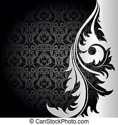 zwarte achtergrond, zilver